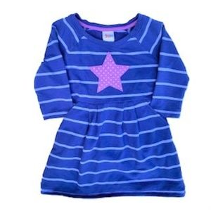 CIRCO LAVENDER STAR PURPLE STRIPED DRESS